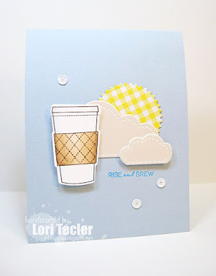 Rise and Brew card-designed by Lori Tecler/Inking Aloud-stamps from Clear and Simple Stamps