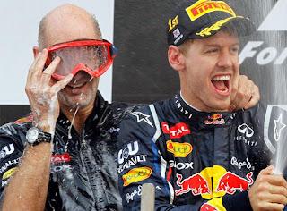 Sebastian Vettel en el podio