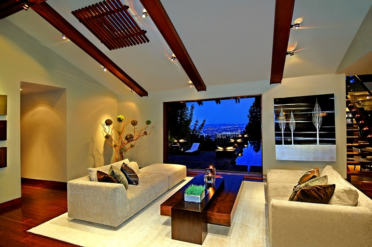 Second living room in Calvin Harris's new celebrity house