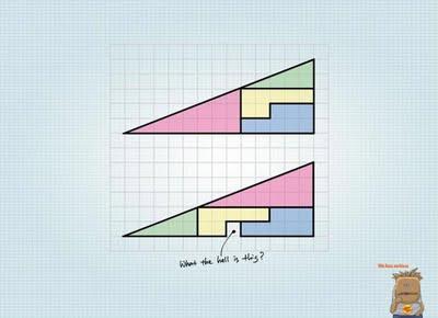 ilusion optica paradoja del cuadrado perdido