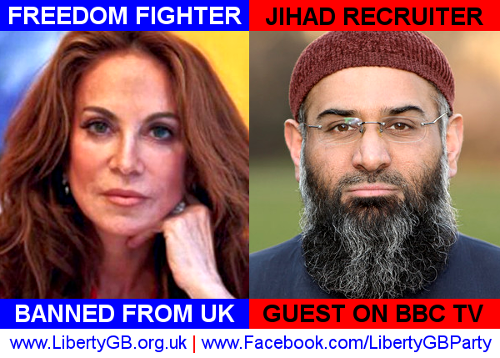 Liberty GB: freedom fighter banned from UK, jihad recruiter guest on BBC TV
