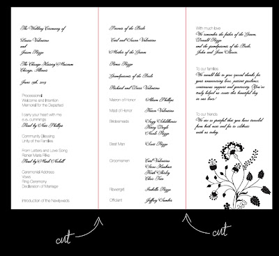 Wedding Program on Wedding Ceremony Programs