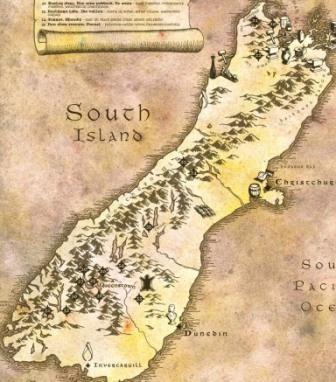 Localizaciones del rodaje de El señor de los Anillos en Nueva Zelanda Isla Sur