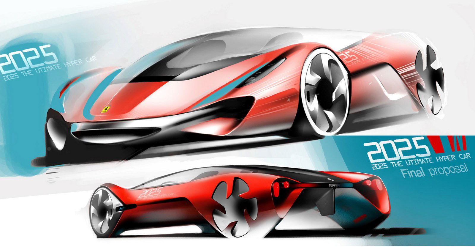 Awesome Designs For The Ferrari World Design Contest Graphic