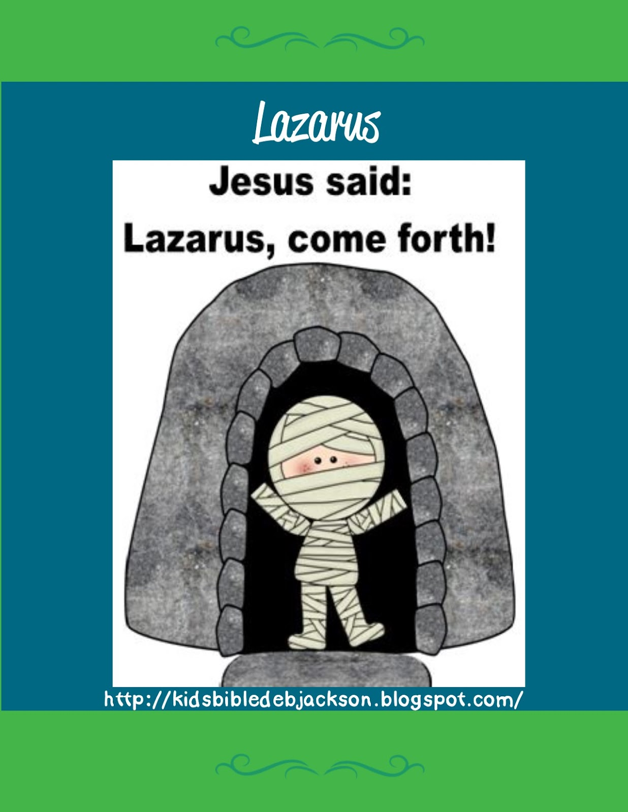 bible fun for kids lazarus lives again