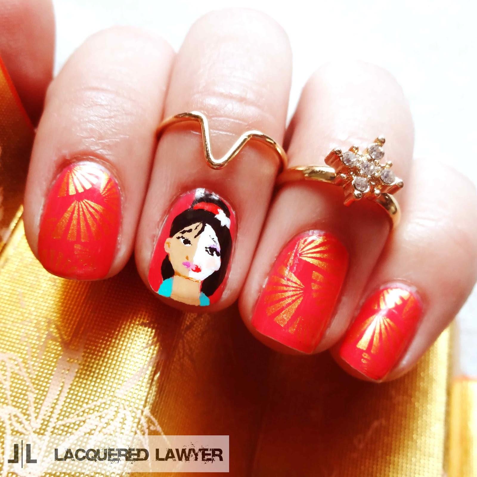 Mulan Nail Art