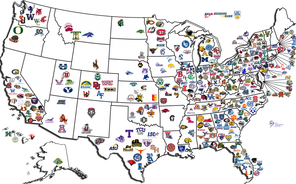 Image Gallery ncaa map