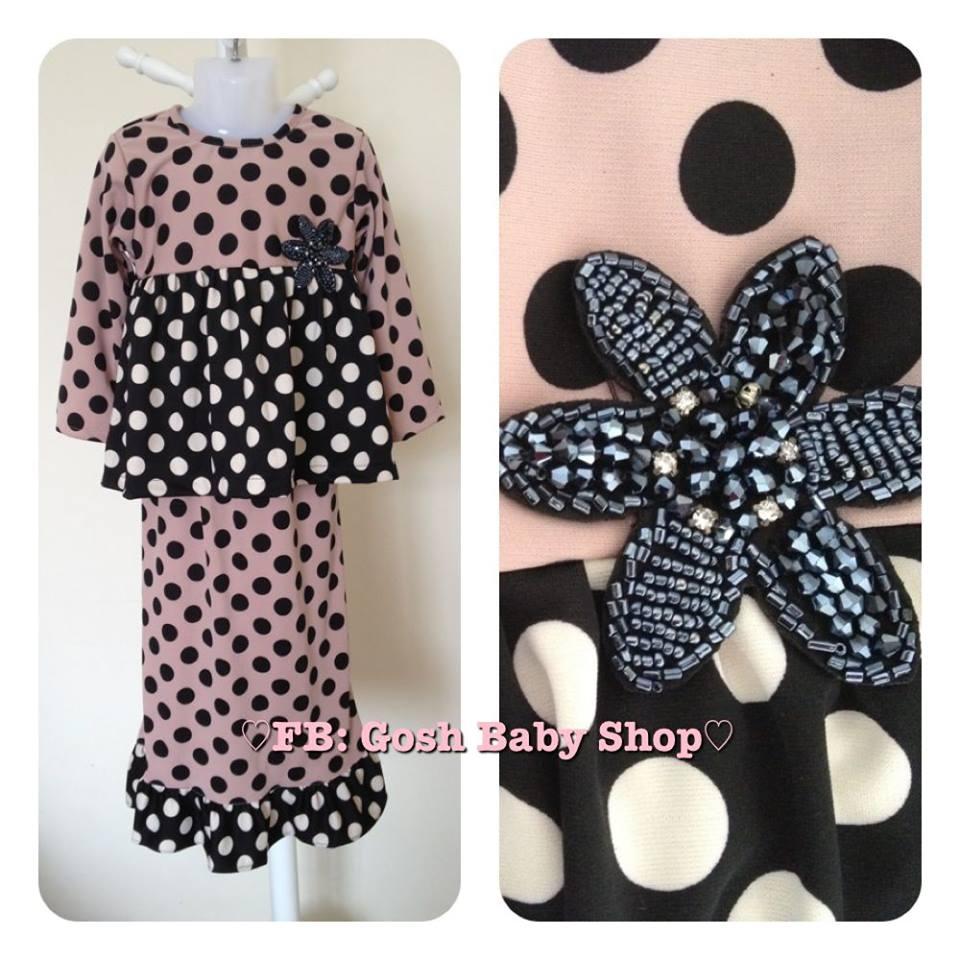 Baju Kurung Peplum Bayi dan Kanak-Kanak Raya 2013 Stock Borong dan