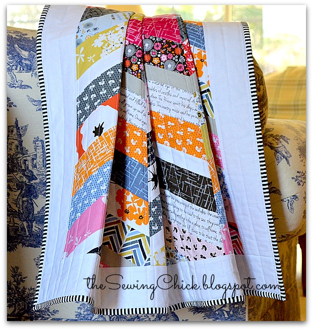 colorful modern quilt with madrona road fabric