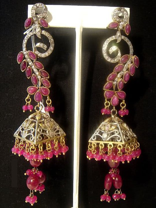 buy online Beautiful elegant stylish Earings jewellery Collection 2012