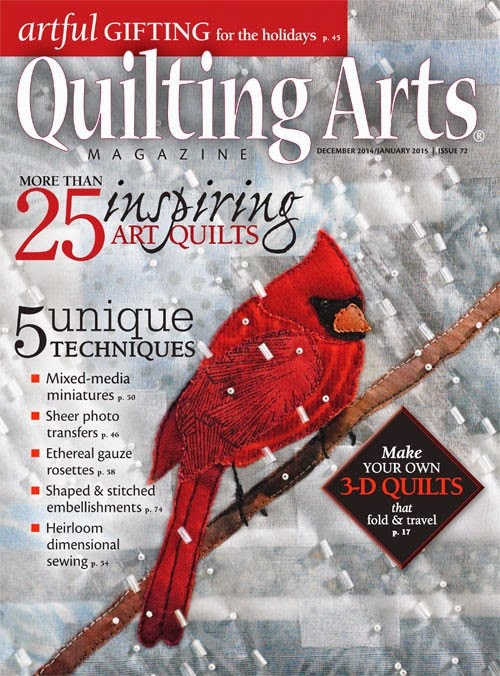 Dec/Jan issue of Quilting Arts.