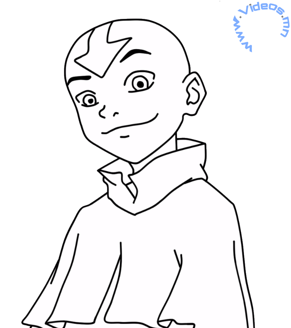 avatar the last airbender character drawings and coloring pages