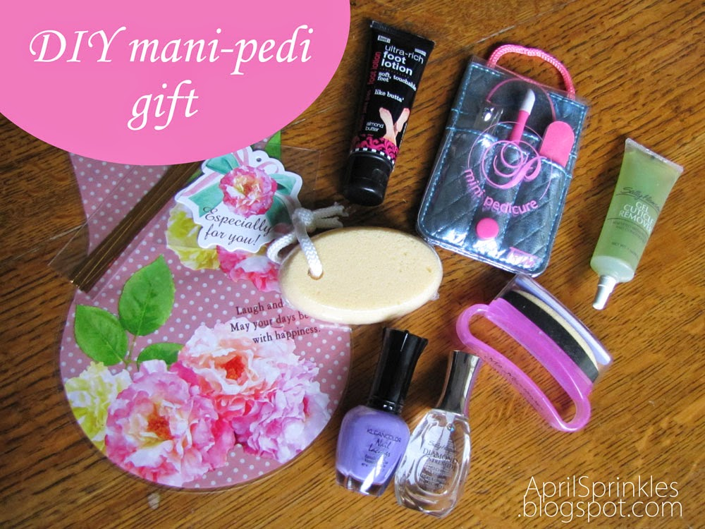 DIY Mani-pedi Mother's Day gift idea [April Sprinkles]
