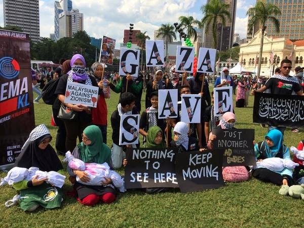 Perhimpunan 'Selamatkan Anak-Anak Gaza'
