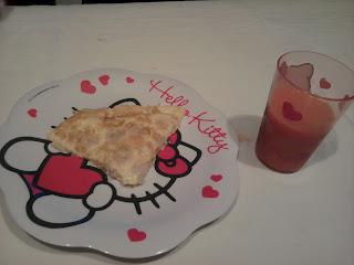 cena tortilla de gambas y gazpacho