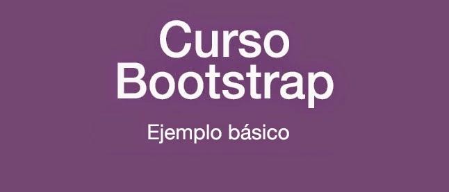 Curso Bootstrap: Ejemplo básico