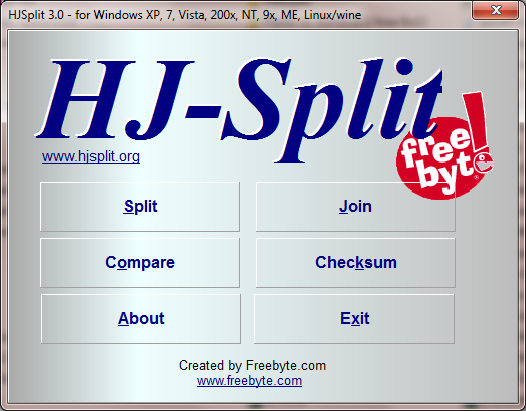 HJSplit 3.0 | Free Download