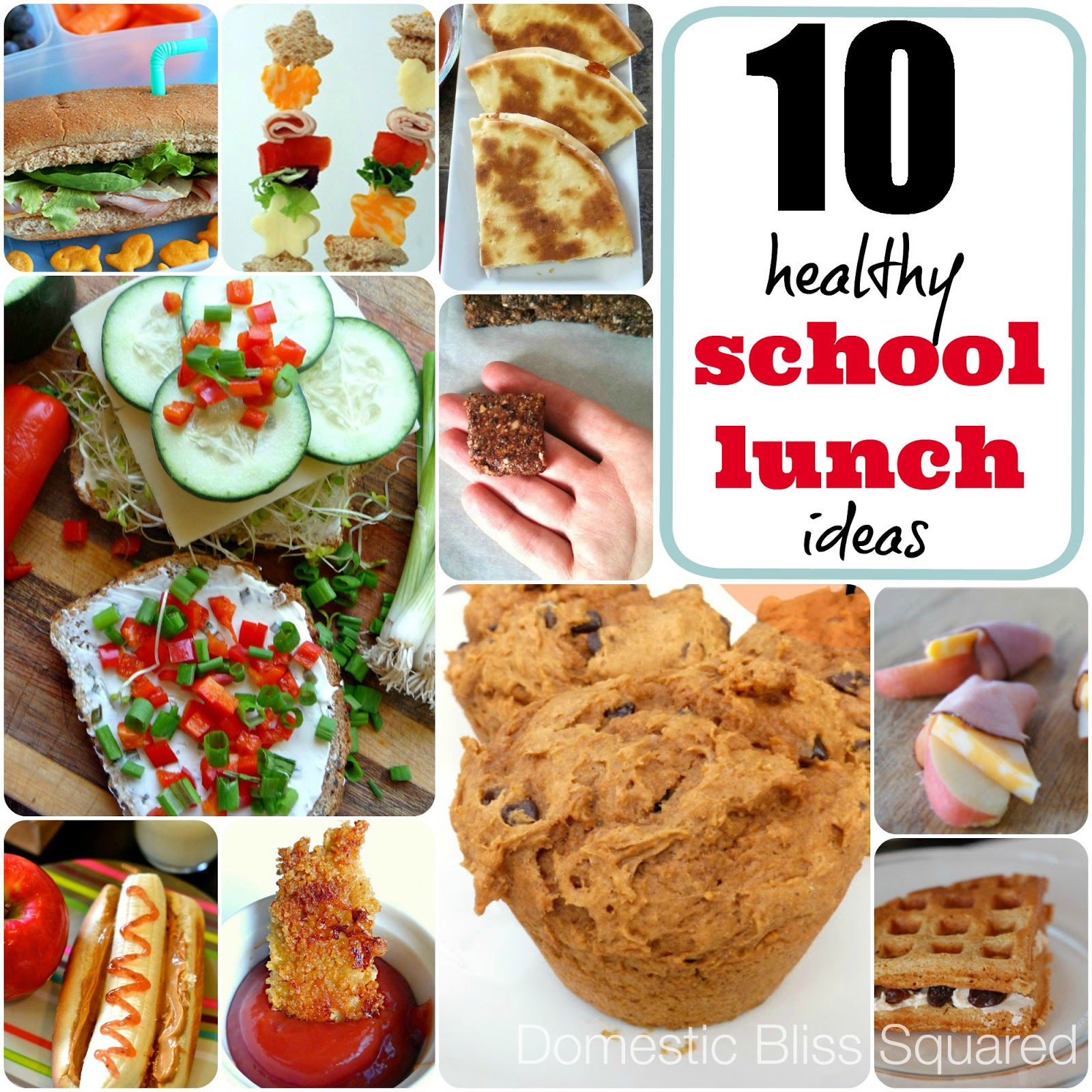 10 healthy fun quick and easy school lunch ideas