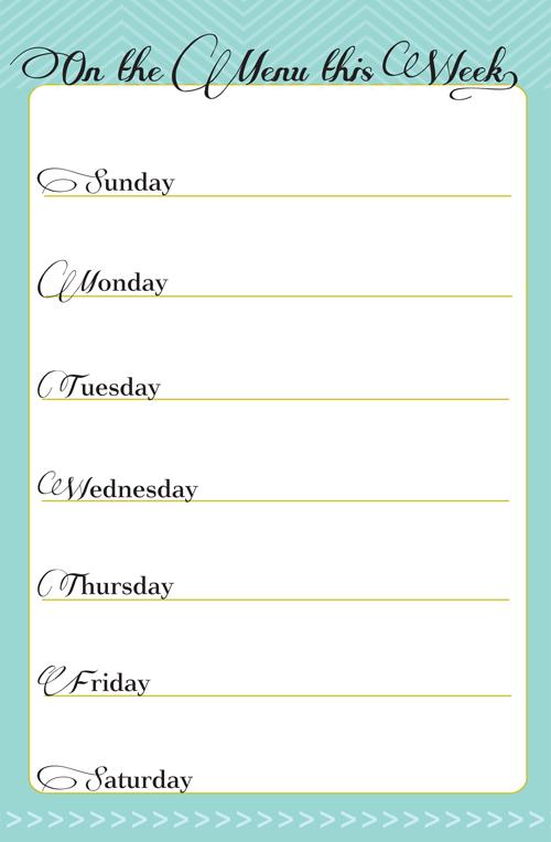 dinner menus weekly dinner menus weekly meal planning menu planner ...