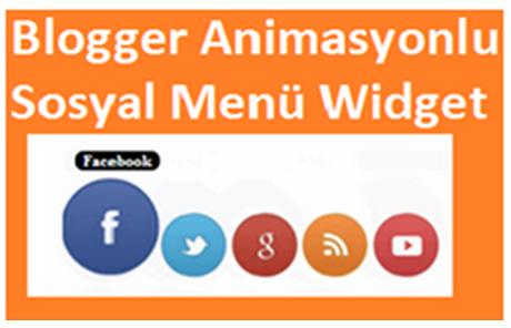 Blogger Animasyonlu Sosyal Menü Widget