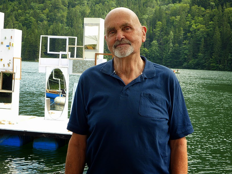Hans Joachim Roedelius à Lunz am See, More Ohr Less Festival 2014 / photo S. Mazars