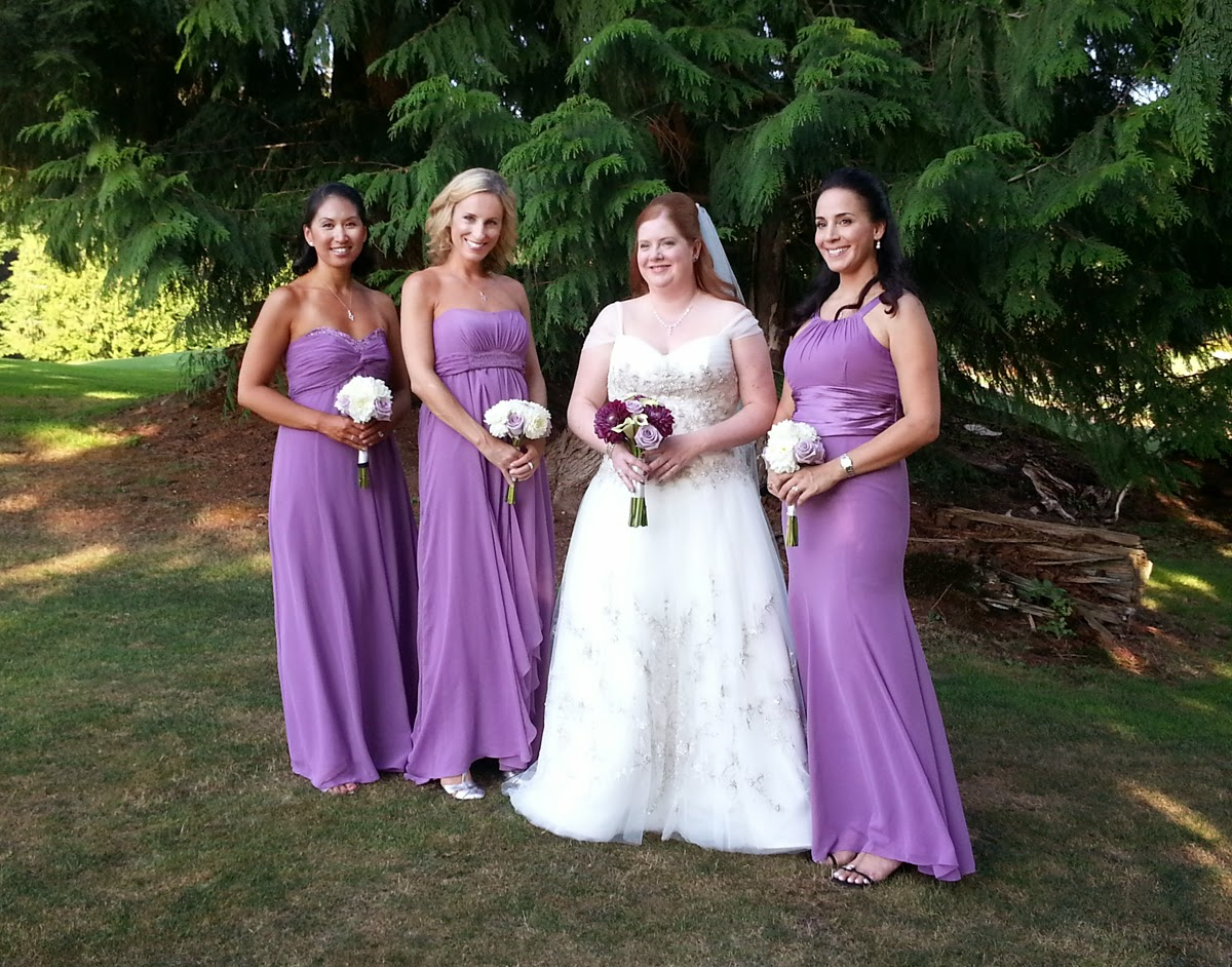 "The ""ladies"" of Amy and Scott's wedding at the Bear Creek Country Club - Patricia Stimac, Seattle Wedding Officiant"