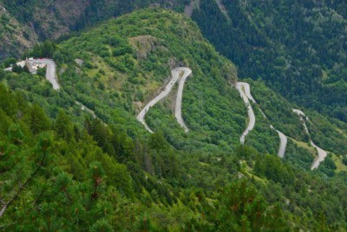 Alpe D'Huez France  City pictures : 8466511 the famous hairpin curves of alpe d huez tour de france