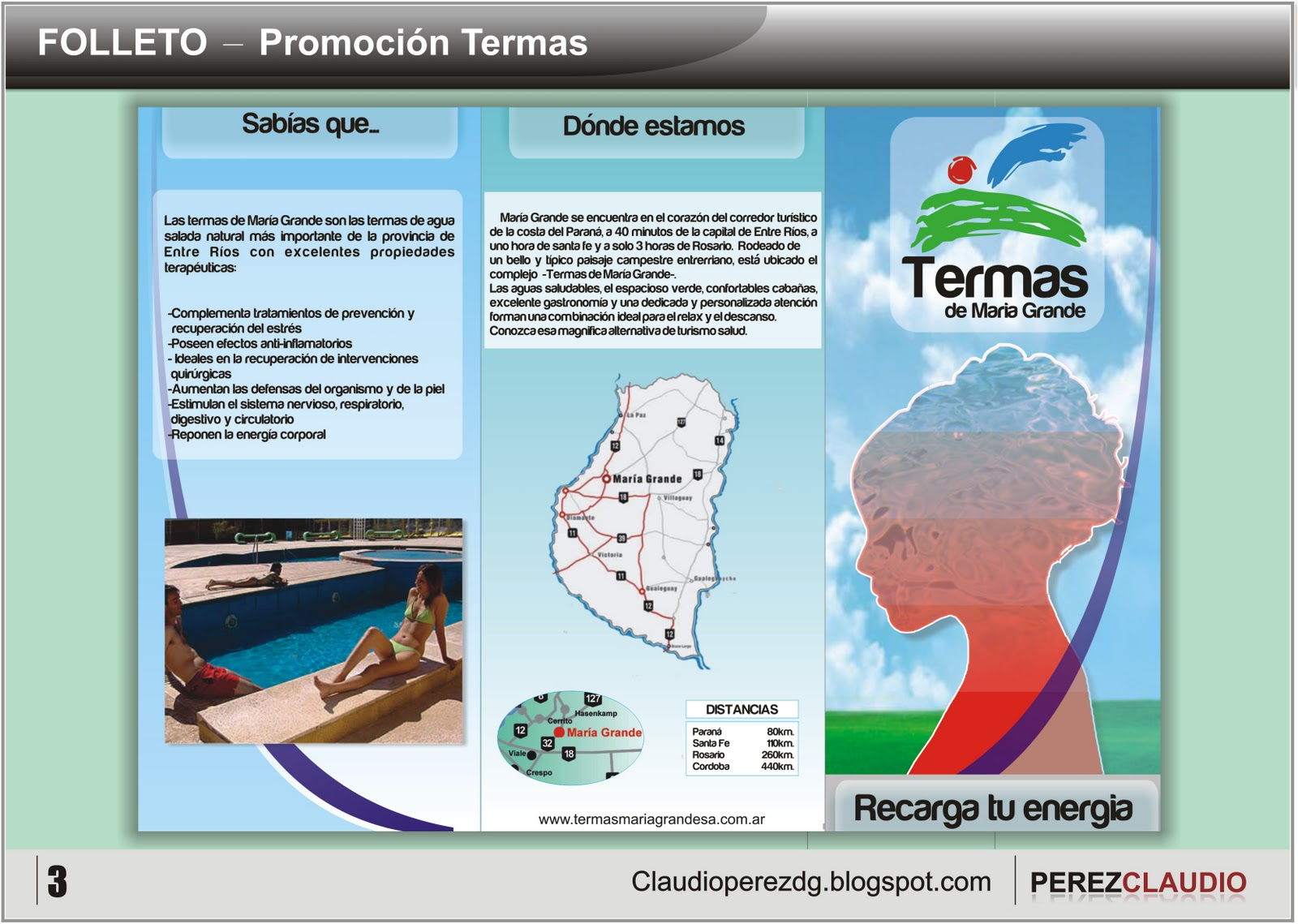 Diseno De Baños Termales:ClaudioPerez: Folletos Promoción de Aguas Termales
