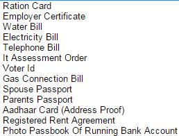 address proof for Passport