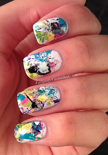 9 graffiti nail art design