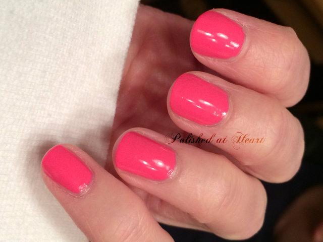 neon pink polish