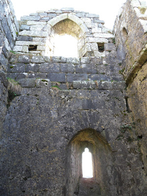 Inside the chapel on Roche Rock