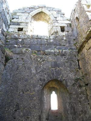 Inside the chapel on Roche Rock