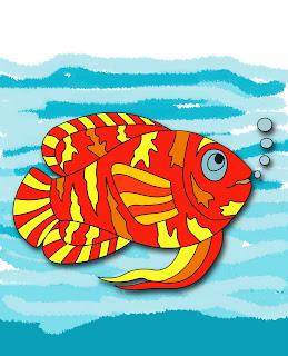 Mewarnai Ikan