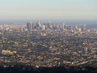 View south from Mt. Hollywood toward downtown Los Angeles