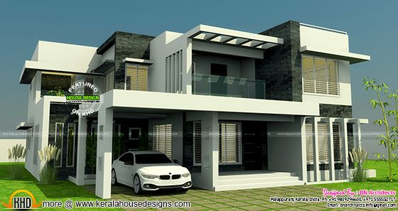 Contemporary home elevation