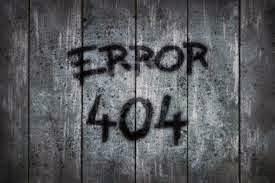 Kode kode eror dalam internet (EROR 404)