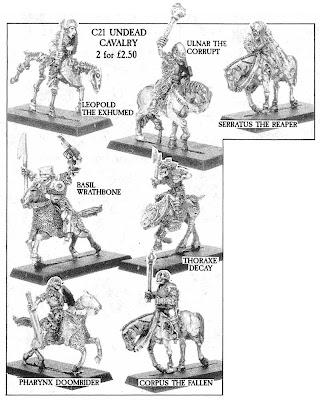C21 Undead Cavalry en el Mail Order Flyer de 1987