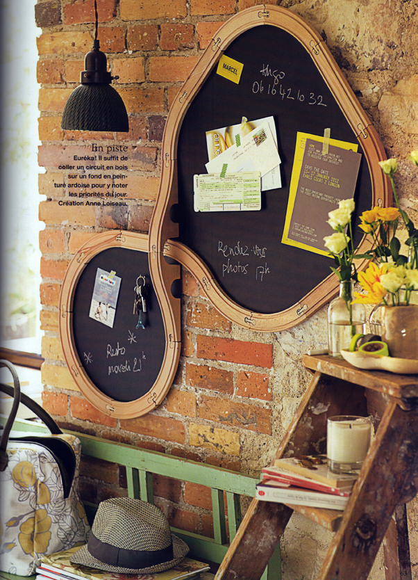 rauschmittel recycling idee wandtafel aus einer spieleisenbahnstrecke. Black Bedroom Furniture Sets. Home Design Ideas