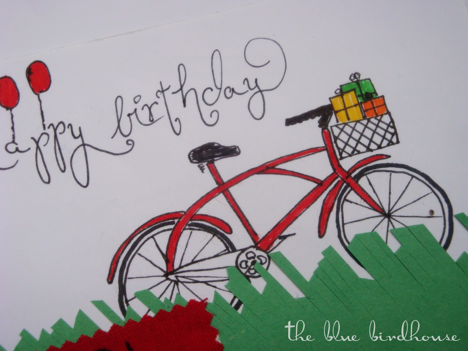The Blue Birdhouse Birthday Cards Bicycle Gun – Bicycle Birthday Cards