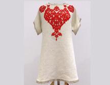DIY Lace applique dress