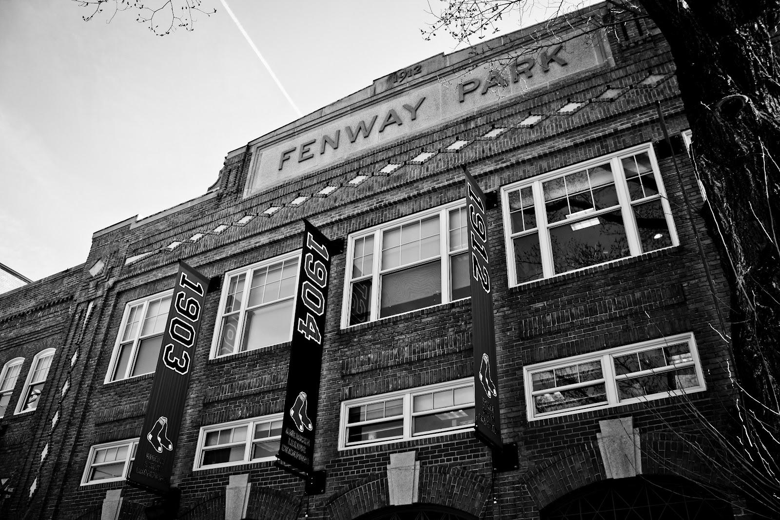 Fenway park wallpaper black and white