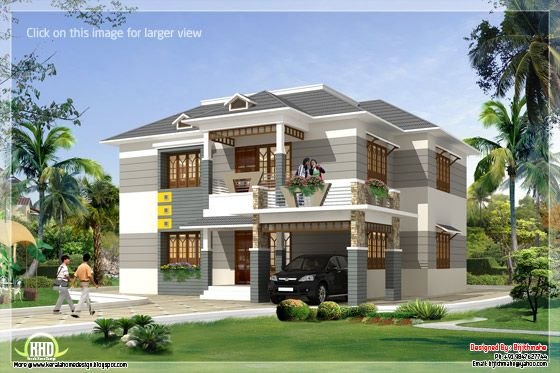 2700 sq.feet Kerala style home plan and elevation - Kerala home ...