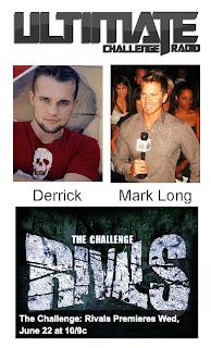 Derrick Kosinski Podcast, MTV Challenge, Rivals, Mark Long, Ultimate Challenge Radio
