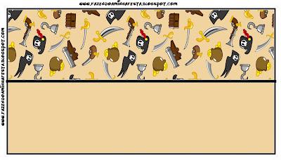 Etiqueta de Piratas para bolsas de golosinas.