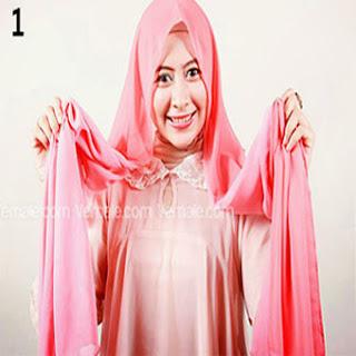 Kreasi Jilbab Segi Empat Moderen Terbaru