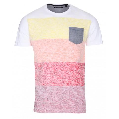 Men's Twisted Soul White Reverse Block Print T Shirt