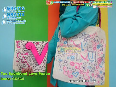Tas Spunbond Love Peace