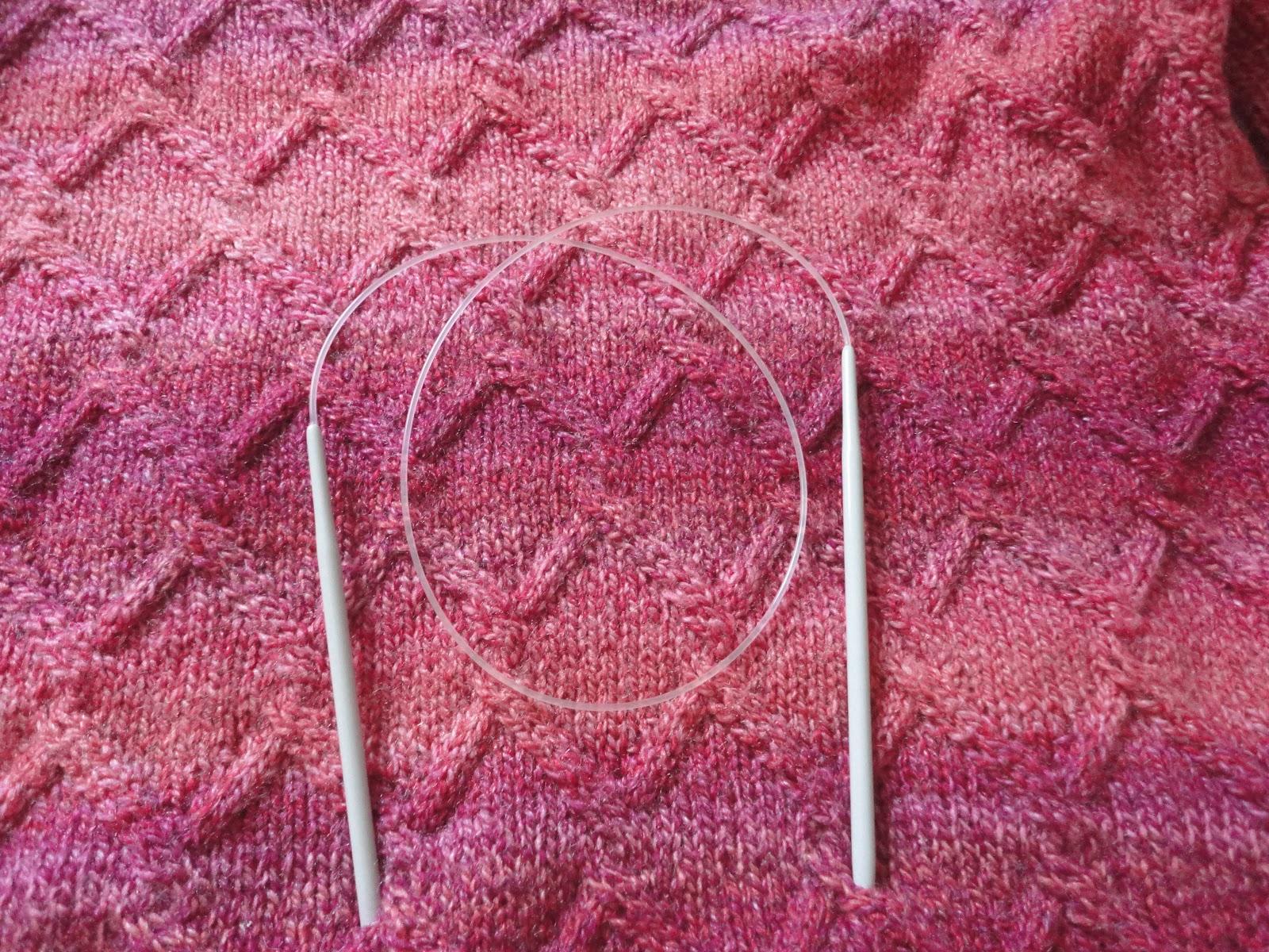 Mis labores jersey con agujas circulares - Labores punto dos agujas ...