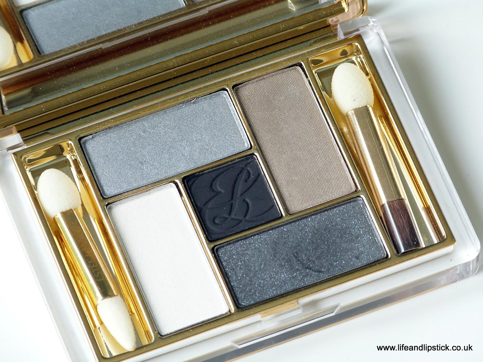Estée Lauder Pure Color Five Color EyeShadow Palette in Film Noir